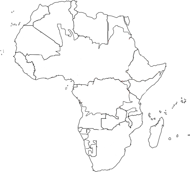 World map continents coloring page