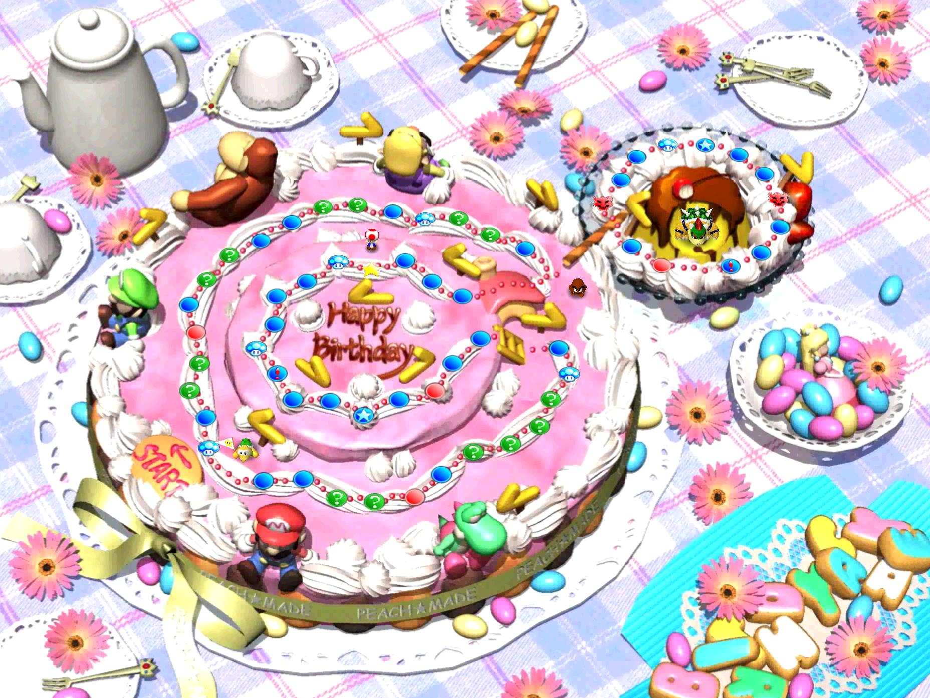 Peach S Birthday Cake Mariowiki The Encyclopedia Of Everything Mario