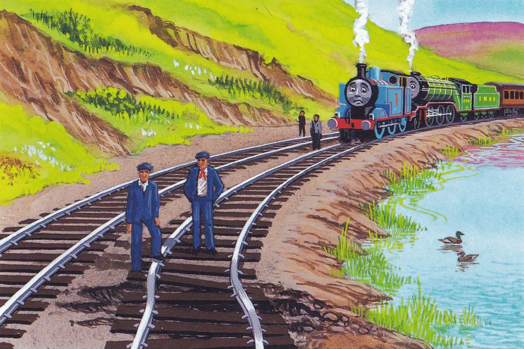 原作第35巻のイギリス国立鉄道博物館の客車