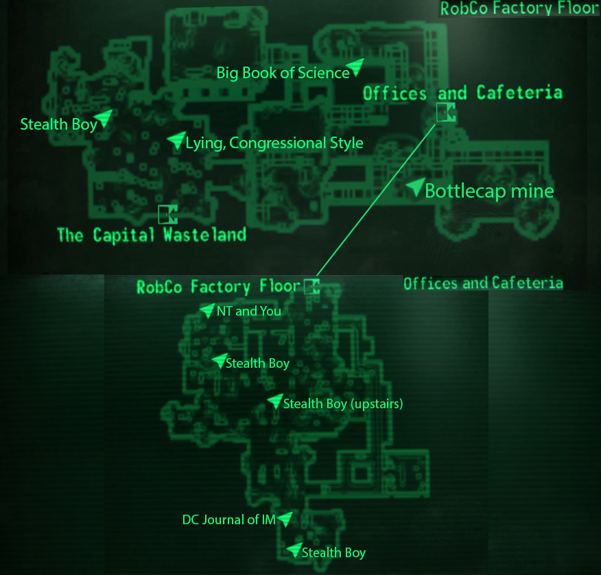 Facility Site Map Example: Fallout: New Vegas And