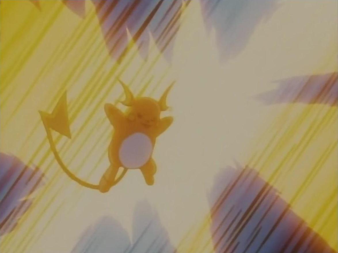 Image - Lt Surge Raichu ThunderShock.png - The Pokémon Wiki