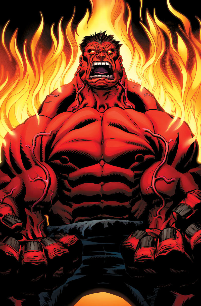 red hulk fire