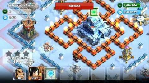 Samurai Siege Mission 34b A Snowballs Chance (Unlock Snowball Scroll) - level 2 troops