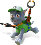 Here is a gallery of Rocky s attires throughout the series Paw Patrol Toys Rocky