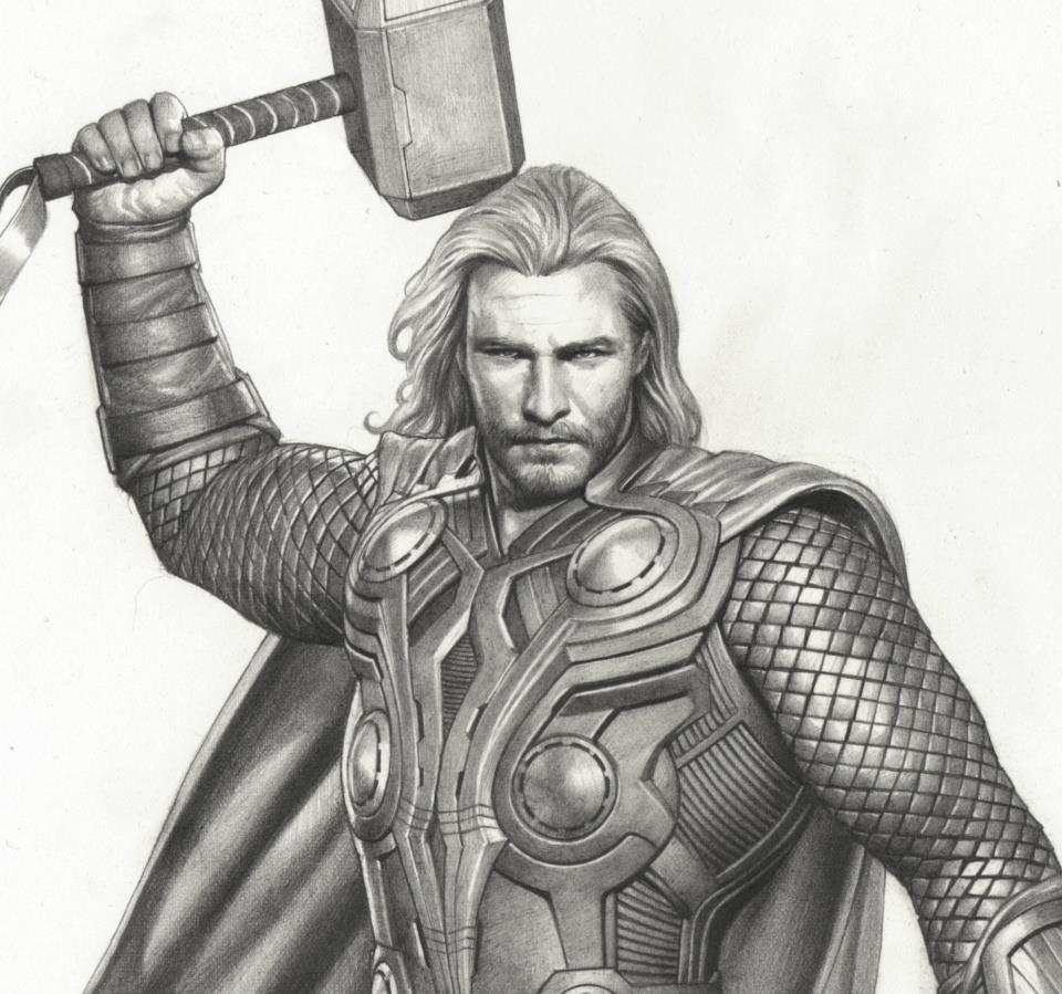 Image  Thor Avengers Concept Art 4jpg DisneyWiki