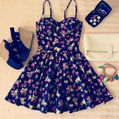 fashion girl Dress-fashion-floral
