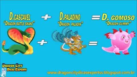 """Dragon City Como fazer Dragão Gomoso """"Dragon City how to make Gummy Dragon"""""""