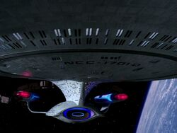 Enterprise-d extreme closeup