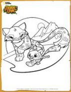 Animal Jam Snow Leopard Coloring Page