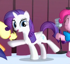Rarity as an alicorn animation error S4E12