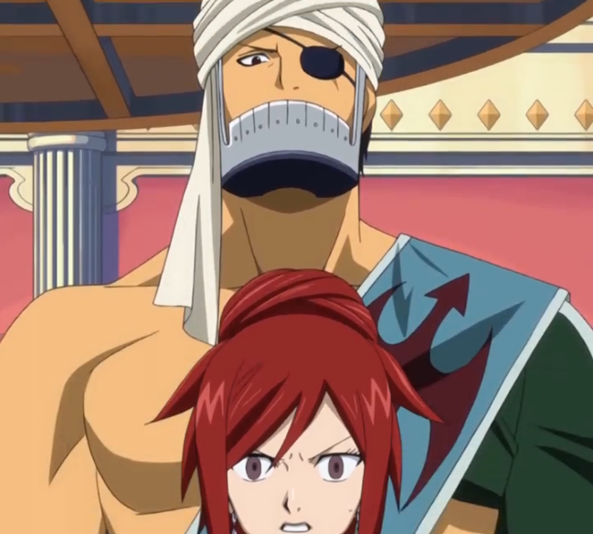 Image - Simon Appears Behind Erza.PNG - Fairy Tail Couples ... Fairy Tail Simon