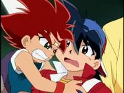 Daichi atacando Tyson