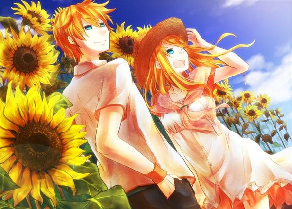 Image - Boy touhou dress blue eyes long hair anime orange ...