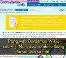 Gà Con Tập Chơi/Facebook: Trang web Doraemon Wikia của Việt Nam đưa ra nhiều thông tin sai sự thật