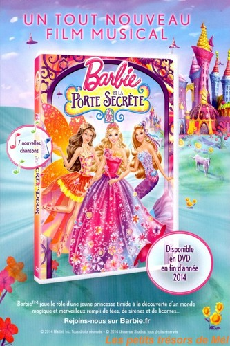 This is barbie and the secret door dvd cover in france