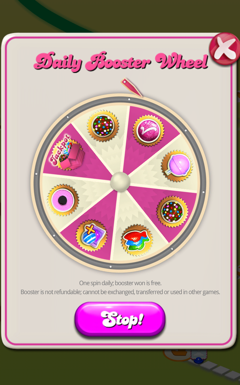 free spin wheel on candy crush