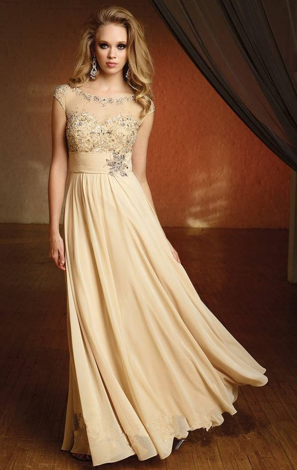 Image new long chiffon evening prom party cocktail for Dresses for an evening wedding
