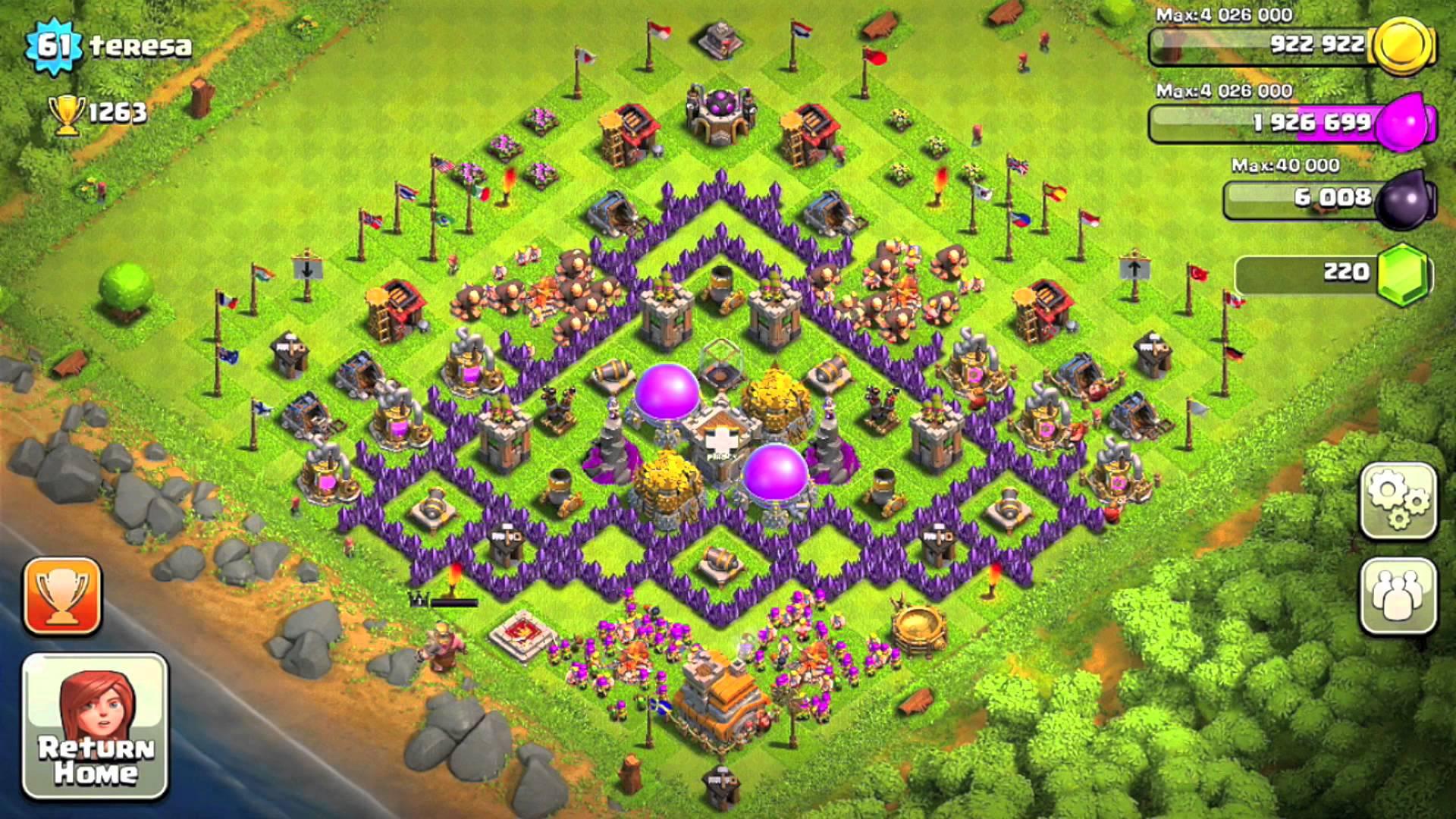 Castle clash best defense town hall level 13 image coc7 jpg clash