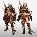 FrontierGen-Kishin Armor (Blademaster) and Doji Armor (Gunner) (Front) Render.jpg
