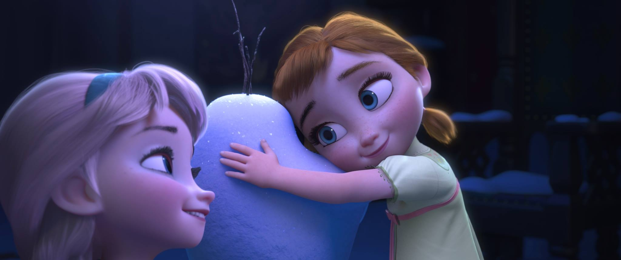 Image little anna and elsa with disneywiki - Olaf and anna ...