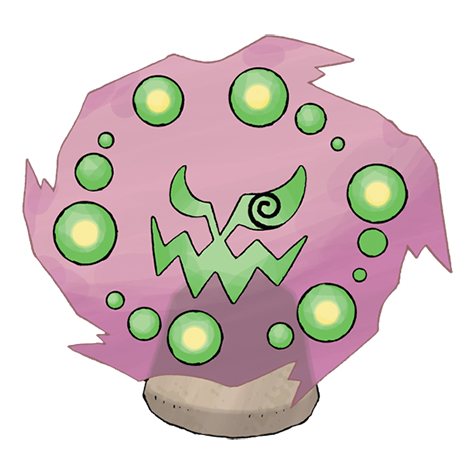 Spiritomb on Green Spiral Shape