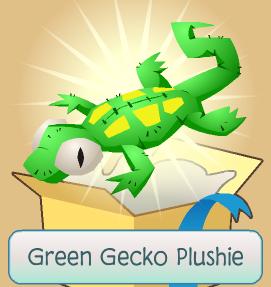 Green gecko plushie