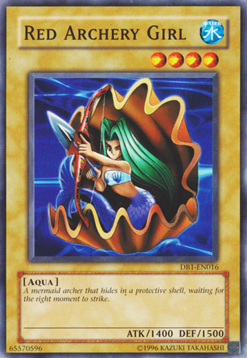 red archery girl   yu gi oh   it s time to duel