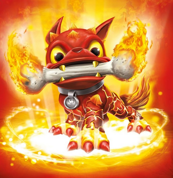 Skylanders Fire Bone Hot Dog Wow Pow