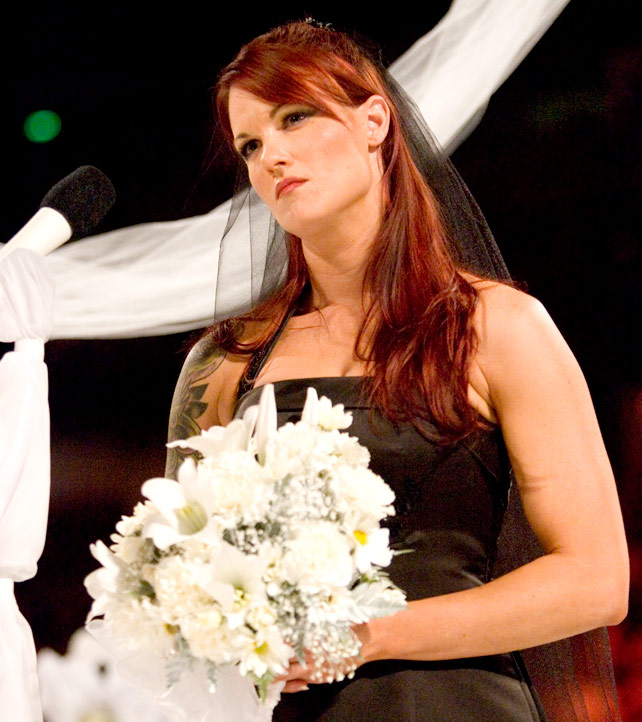 Edge Lita And Kane Lita at Her Wedding With Kane