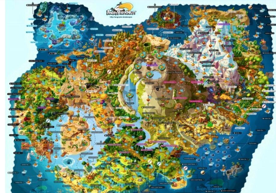 Angry Birds Transformers Piggy Island Map