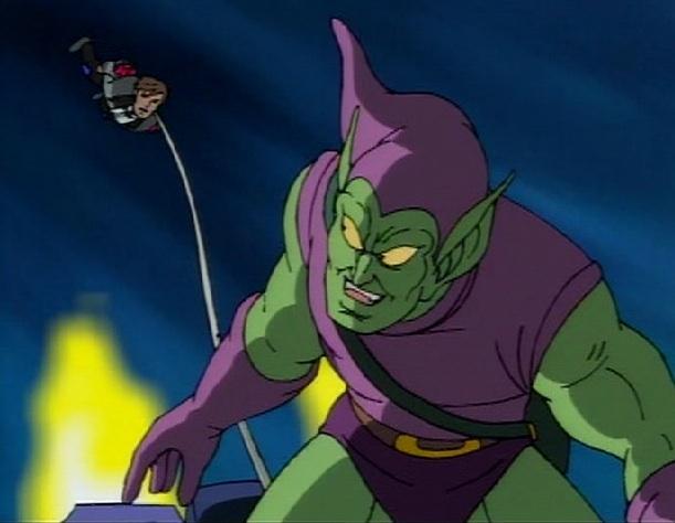 ultimate spiderman green goblin glider