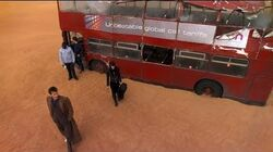 London Bus Transports To Desert - Doctor Who - Planet Of The Dead - BBC