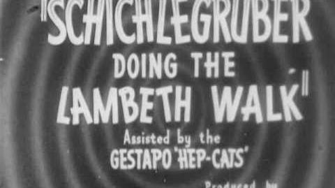 Lambeth Walk Nazi Style - by Charles A. Ridley (1941)