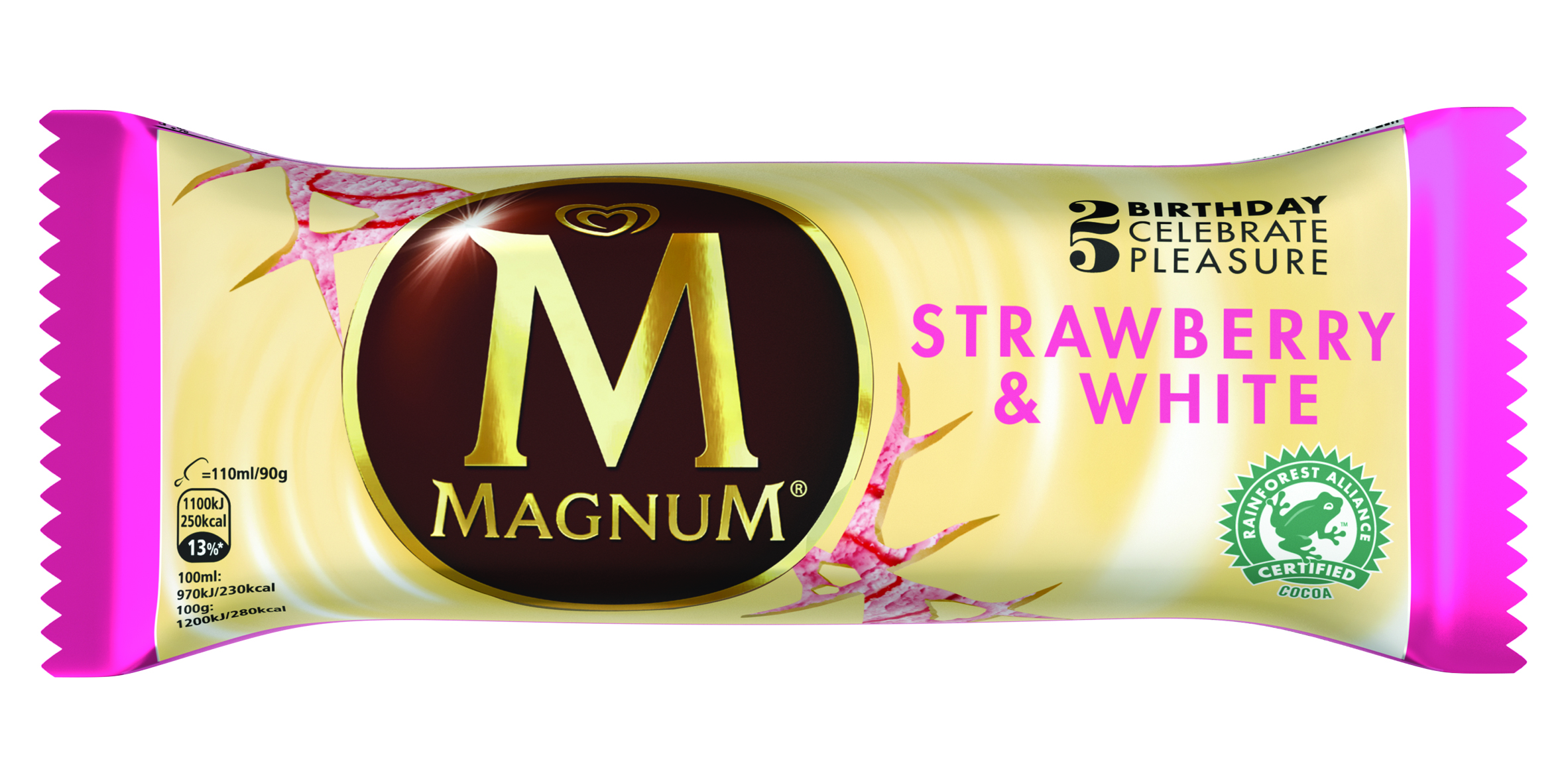 Magnum Strawberry White