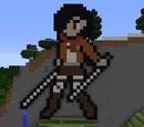 Mikasa Ackerman pixel art