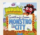 Monstro City Postcard Book