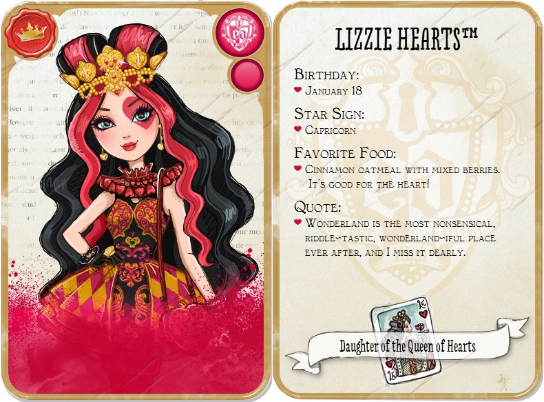 Ever After High Character Cards Blondie Lockes Card