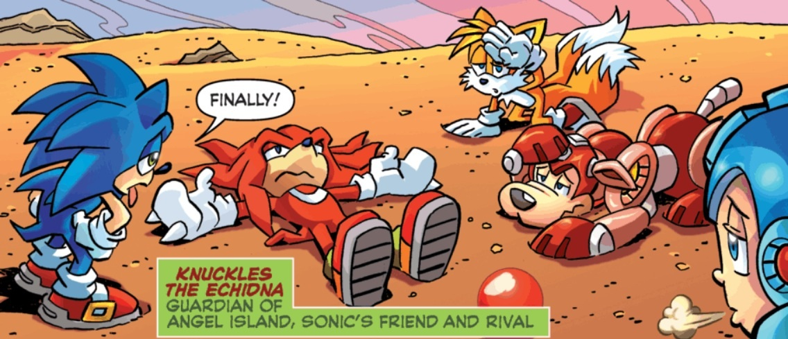 knuckles man turns into knuckles