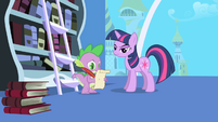 """Spike trying to spell """"imperative"""" S1E01"""