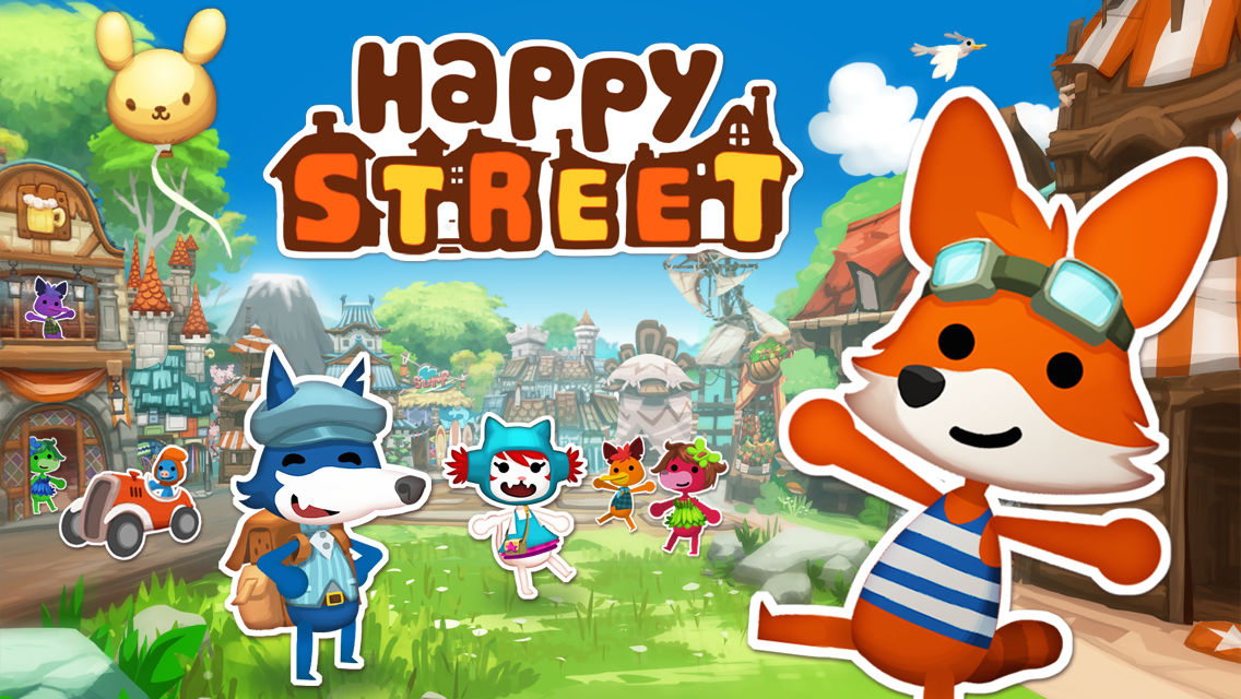 Happy Street released on August 1st, 2012 for iOS and Android by Godzi Lab