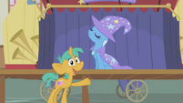 "Snails calls Trixie ""most awesome unicorn in Ponyville"" S1E06"