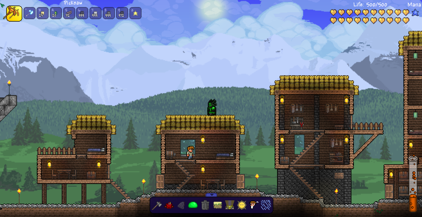 how to build a castle in terraria