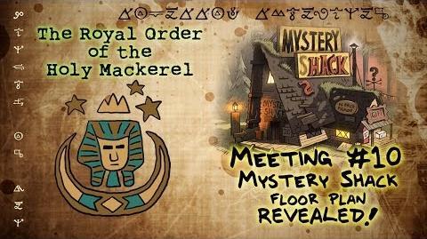 MYSTERY SHACK FLOOR PLAN REVEALED! GRAVITY FALLS The Royal Order of the Holy Mackerel