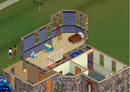 Goth home The Sims 1 second floor.png