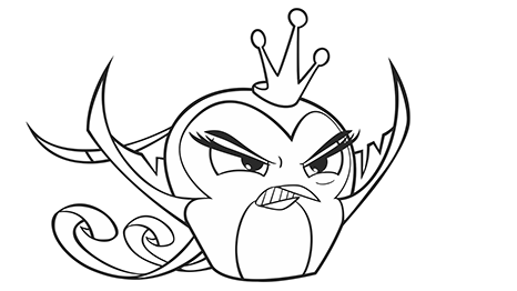Angry Birds Gale Coloring Pages