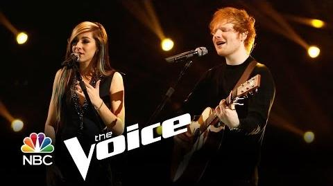 """Ed Sheeran and Christina Grimmie """"All of the Stars"""" (The Voice Highlight)"""