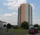 Tower blocks in Walford
