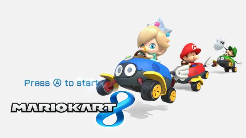 Image - Mario Kart 8 Title Screen (Baby Mario, Baby Luigi ...