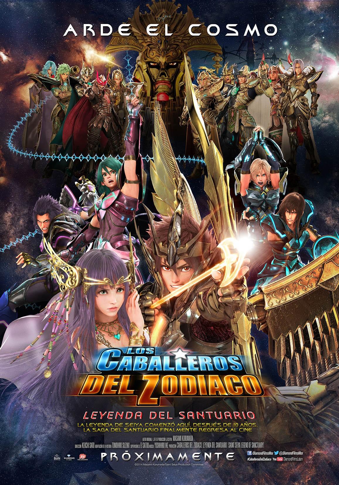 Poster Oficial de la pelicula Caballeros del Zodiaco La Leyenda del Santuario