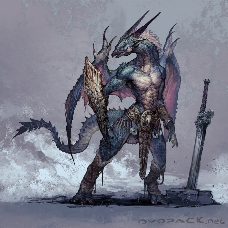 Drakin Race Half-dragon